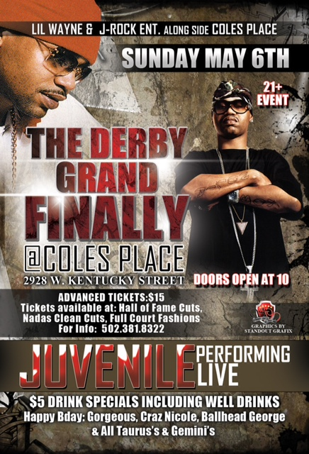 Juvenile Performing Sunday May 6th [at the Derby Grand Finally]