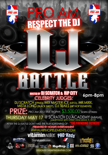THURS (5/17) ProAm DJ Battle 6PM-8PM